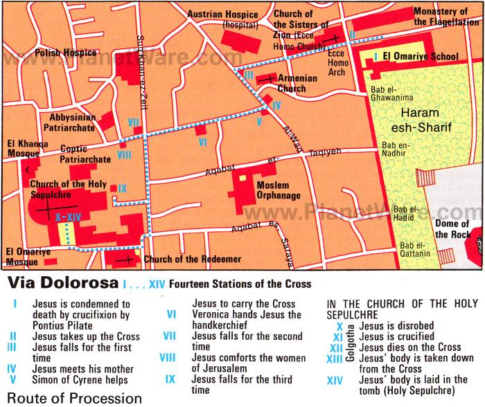 The Via Dolorosa in Jerusalem DOLRorg